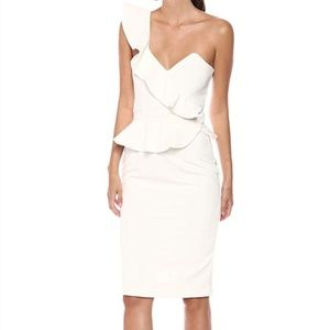 BARDOT CAMELLIA ONE-SHOULDER WHITE DRESS NWT